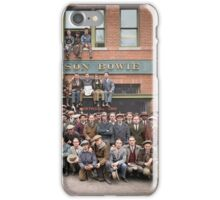 Harley Davidson gang and Bike Shop ca 1925 iPhone Case/Skin