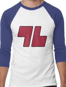 96 Red - Sun and Moon Men's Baseball ¾ T-Shirt