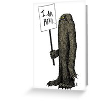 Bigfoot the Subtle Cryptid Greeting Card