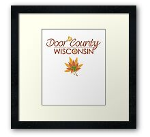 Door County Wisconsin Fall Colors Framed Print