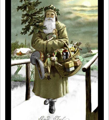 God Jul Vintage Santa Sticker