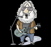 Jerry Garcia by MacKaycartoons