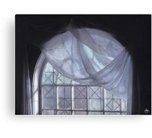 Blue Curtain in a Arch Window 2nd Edition Canvas Print