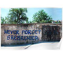 Graffiti in Travnik Poster