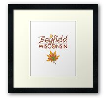 Bayfield Wisconsin Fall Colors Framed Print