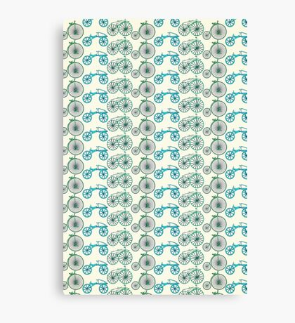 bicycle pattern Canvas Print