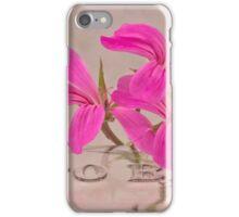 Pink Geranium Blossoms - Macro iPhone Case/Skin