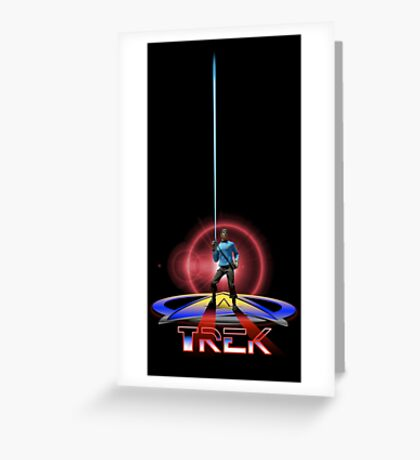 Spock Tron Greeting Card