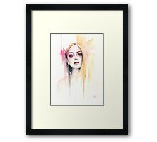 "Watercolour and ink painting ""Maeve"" Framed Print"