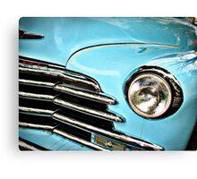 Blue Chevrolet truck headlight Canvas Print