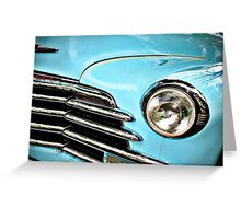 Blue Chevrolet truck headlight Greeting Card