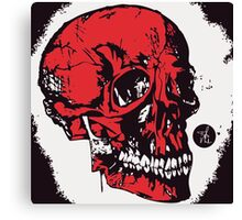 Red Skull Canvas Print