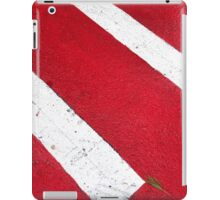 Red on white iPad Case/Skin