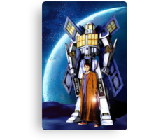Giant Robot Phone Box with The Doctor Canvas Print