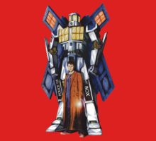 Giant Robot Phone Box with The Doctor One Piece - Short Sleeve