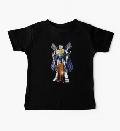 Giant Robot Phone Box with The Doctor Baby Tee