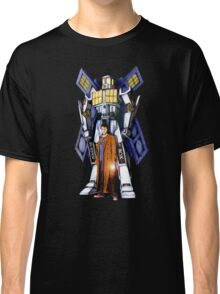 Giant Robot Phone Box with The Doctor Classic T-Shirt