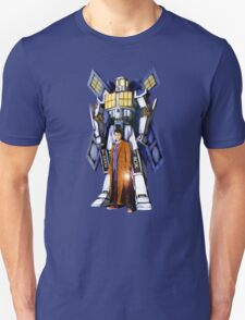 Giant Robot Phone Box with The Doctor Unisex T-Shirt