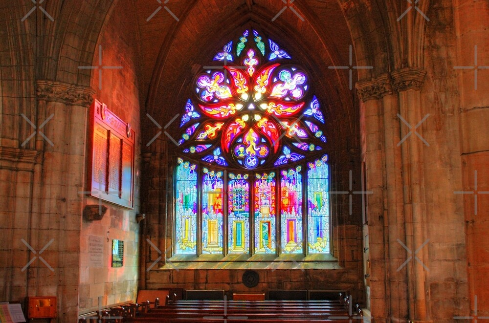 Pentecost Stained Glass by Tom Gomez