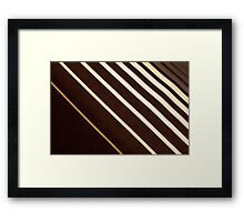 Retro stripe pattern background Framed Print