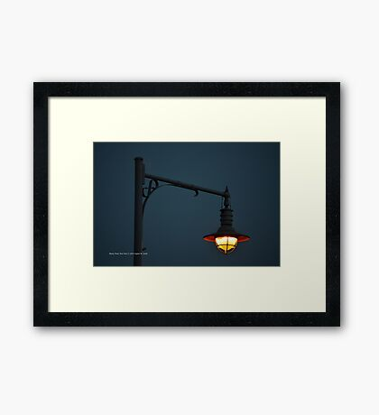 Beach Lamp | Rocky Point, New York  Framed Print