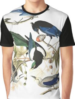 Magpies, Jays & nutcrackers - John James Audubon Graphic T-Shirt