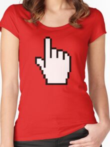 Index Finger Link Click Cursor Women's Fitted Scoop T-Shirt