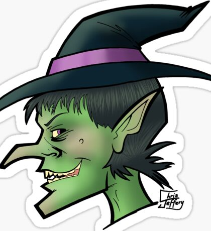 Witching hour. Sticker