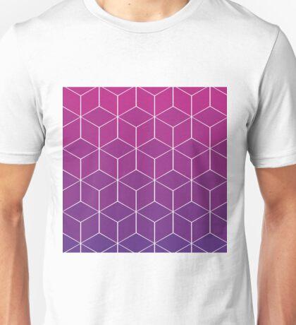 Purple Cubes Unisex T-Shirt