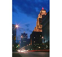 Downtown Milwaukee at Dusk Photographic Print