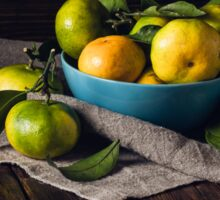 Still Life with Yellow-green Tangerines Sticker