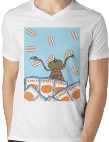 Clarence raining - The Big Lez Show Mens V-Neck T-Shirt