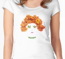 Rowan berries, rudbeckia, asters, grapes Women's Fitted Scoop T-Shirt
