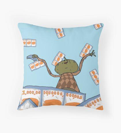 Clarence raining - The Big Lez Show Throw Pillow