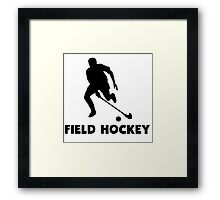 Field Hockey Framed Print
