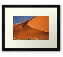 Red sand falls as silk Framed Print