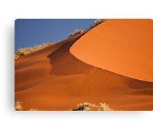 Red sand falls as silk Canvas Print