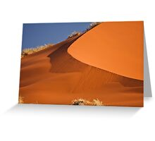 Red sand falls as silk Greeting Card