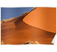 Red sand falls as silk Poster