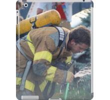 A Much Needed Break for a Firefighter iPad Case/Skin