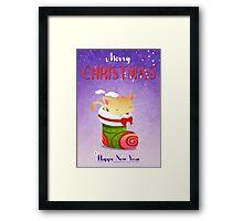 Xmas Christmas Stocking Framed Print