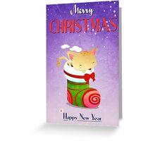 Xmas Christmas Stocking Greeting Card