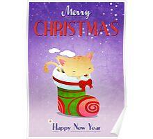 Xmas Christmas Stocking Poster