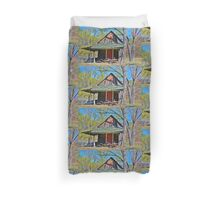 Shed and Wheelbarrows Duvet Cover