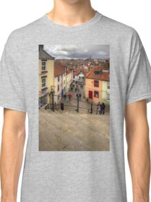 View from the Whitby Steps Classic T-Shirt