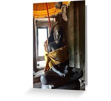 Siem Reap statue Greeting Card