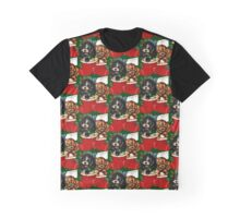 Spaniel Puppies Christmas Hello Graphic T-Shirt