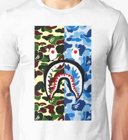 shark bape army blue tshirt Unisex T-Shirt