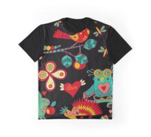 Animals In The Enchanted Forest Graphic T-Shirt