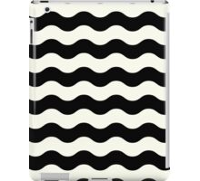 New in shop : Vintage old fashion stripes edition / Wave in black and white iPad Case/Skin